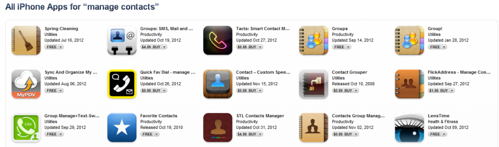 Manage Contacts on your iPhone