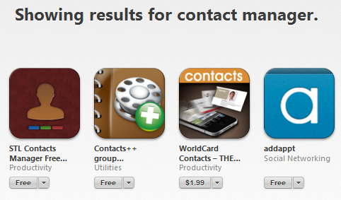 Manage your iPhone Contacts