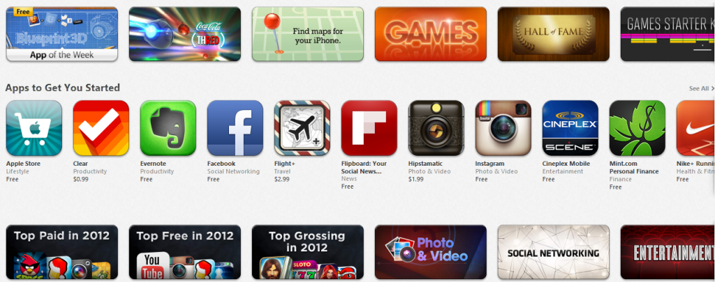 Apple Featured Apps App Store