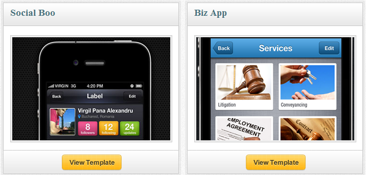 App Design Tempates